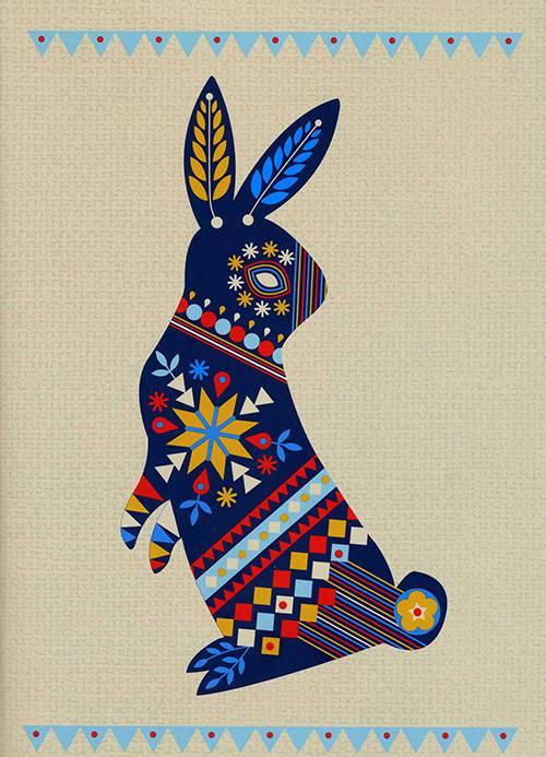 Folk Rabbit Journal