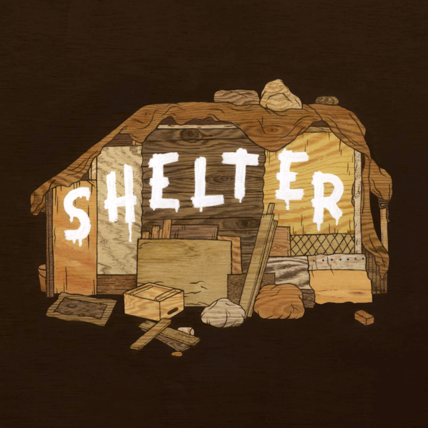 Painting from moki's 2017 publication Shelter