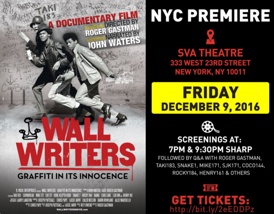 Wall Writers SVA Theater