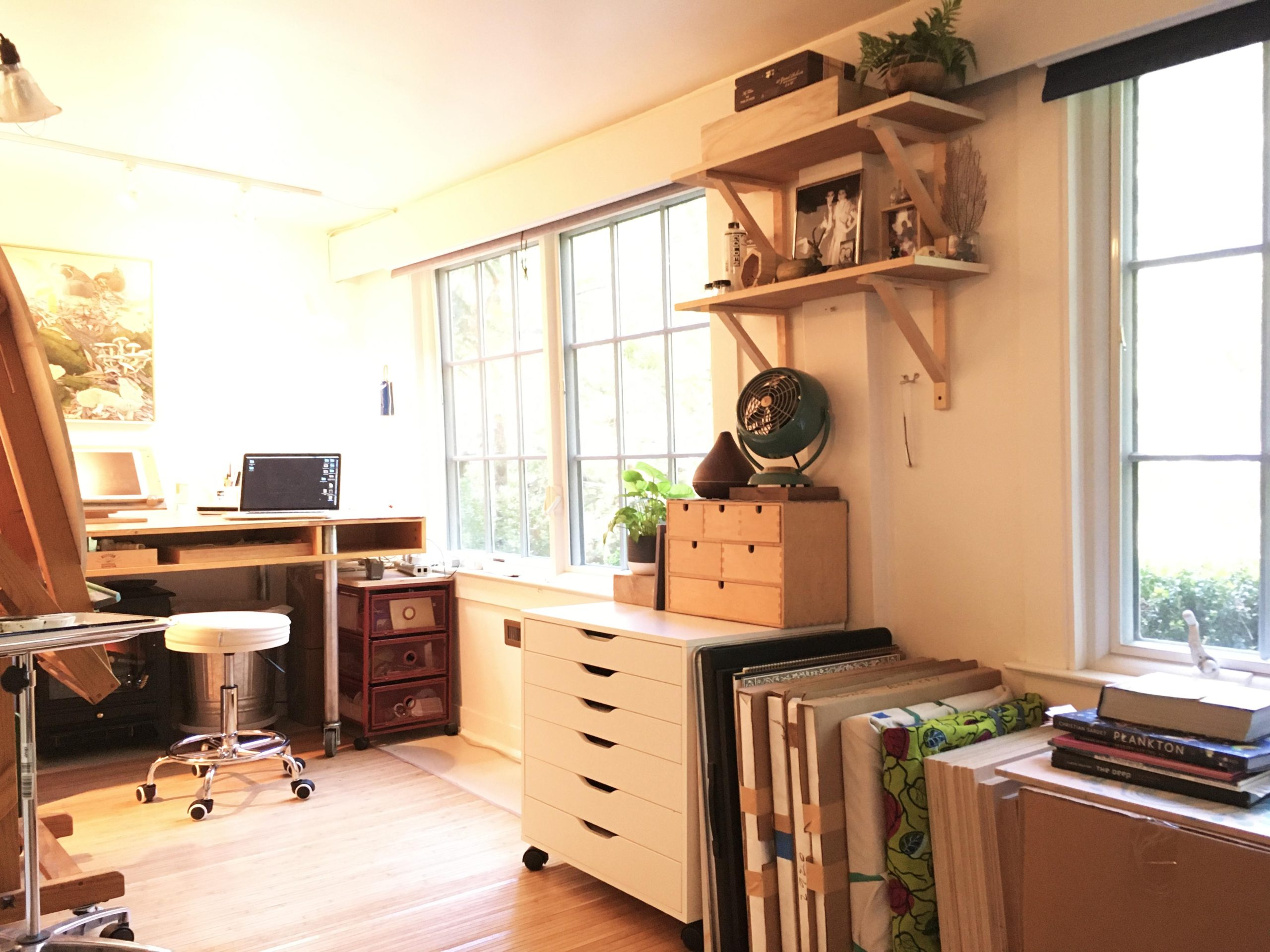 Tiffany's home studio